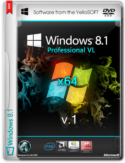 Windows 8.1 Pro vl with Update by YelloSOFT v.1 (x64) [2014] RUS