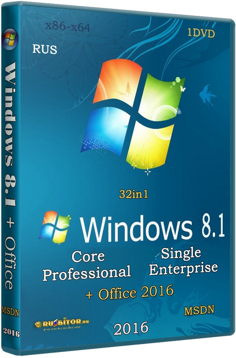Windows 8.1 + Office 2016 (32in1) [v.15.01.16 / 2016] [1DVD] PC by SmokieBlahBlah