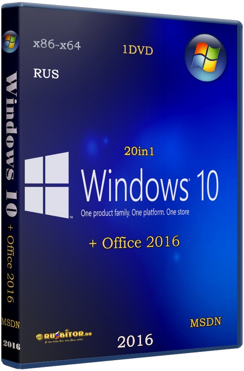 Windows 10 (x86/x64) 12in1 + LTSB +/- Office 2016 [12.01.17] [2017] [1DVD] by SmokieBlahBlah