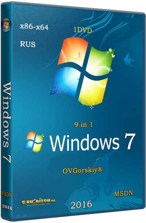 Windows 7 SP1 x86/x64 Ru 9 in 1 Origin-Upd [ 6.1.7601.17514 Service Pack 1 Сборка 7601] [01.2017] by OVGorskiy
