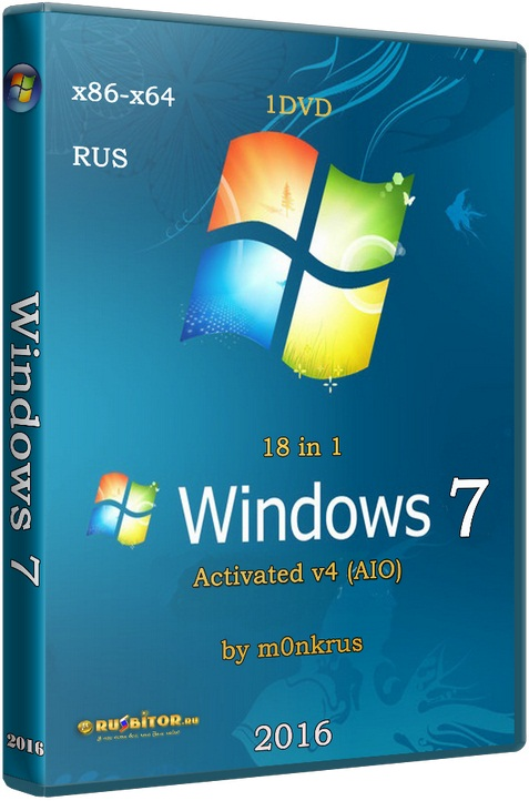 Windows 7 SP1 RUS-ENG x86-x64 -18in1- Activated v6 (AIO) [6.1.7601.17514] [2017] [1DVD] by m0nkrus