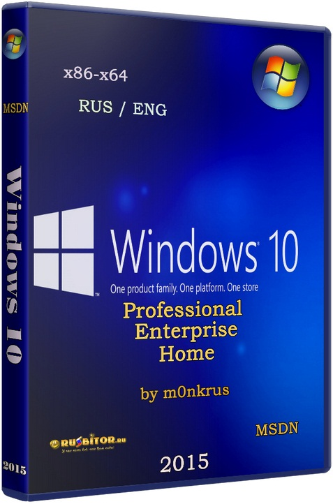 Windows 10 (v1703) RUS-ENG x86-x64 -20in1- KMS-activation (AIO) [10.0.15063.0 Version 1703] [2017] [1DVD] by m0nkrus