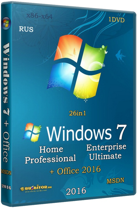 Скачать Windows 7 SP1 (x86/x64) 13in1 +/- Office 2016 [11.05.17] [2017] [1DVD] by SmokieBlahBlah