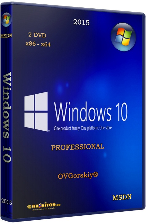 Microsoft Windows 10 Professional VL [1703 RS2 Creators Update 10.0.15063.502 / 08.2017] [2017] [2DVD] by OVGorskiy