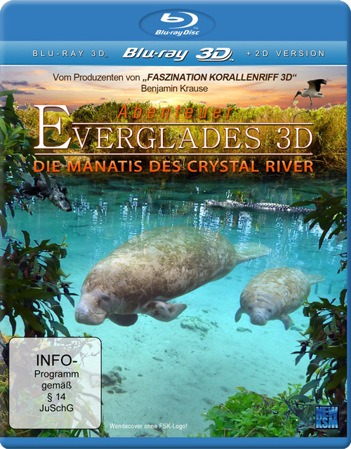 Эверглейдс: Ламантины Кристальной реки  / Adventure Everglades: The Manatees of Crystal River (3D Video)  [2012 / Документальный, видоаой / BDrip 1080p / Half OverUnder]